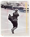 Ira Rosenberg, It was a day for pedestrians to clutch for support and lean for balance, 1974