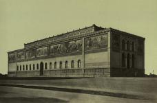 Georg Böttger, Die Neue Pinakothek in München, um 1860, Albumin
