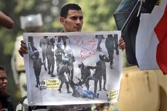 Jonathan Rashad, The Dragged Woman, Protestmarsch zum Verteidigungsministerium, Cairo, April 27, 2012